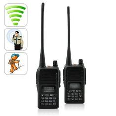 Long Range Walkie Talkie Set (UHF, 220v) long distance 2 way radios system by ChinaVasion. $159.99. This premium two-way communication set consists of a pair of powerful walkie talkies, also known as HT's (handheld transceivers) that allow for instant communication without the need of cellphone coverage or monthly service fees. These walkie talkies are the ideal communication device for maintaining contact in many jobs and situations including; Building Security Teams / Camp...