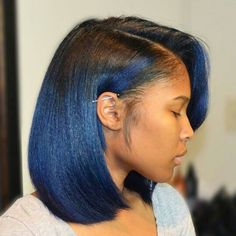 Blue Bob Women's Haircuts