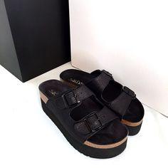 #Sandalias plataforma lurex Sixtyseven. En color negro y en plata7