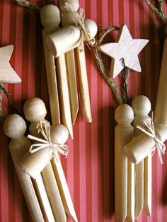 Satz von 3-Wäscheklammer Krippe Ornamente von sweetmellyjane