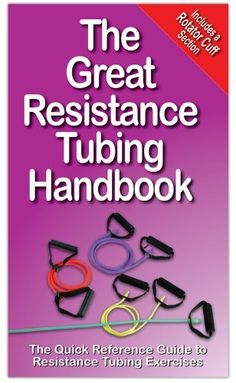 The Great Resistance Tubing Handbook by Andre Noel Potvin, $9.95  Series of exercises for full-body workouts. Start & finish photo with step-by-step instructions. Muscle diagrams accompany each description.