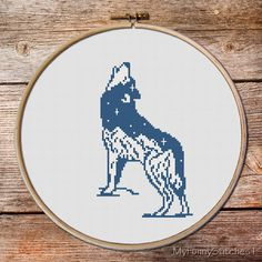 Cross Stitch Pattern Wolf Cross Stitch pattern keeper of the