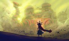 Legend of Zelda Breath of the Wild art > Gerudo Chief Riju facing Divine Beast Vah Naboris The Legend Of Zelda, Legend Of Zelda Breath, Wind Waker, Breath Of The Wild, Original Wallpaper, Hd Wallpaper, Wallpapers, Star Citizen, Sketch 4