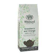 Whittard Strawberry and Orange green leaf tea £6