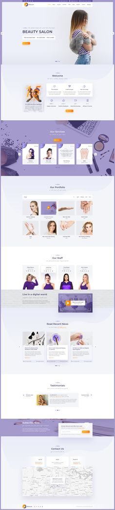 Besalon | Beauty Salon One Page PSD Template by Forgotten-themes | ThemeForest #webdesign #ui #uidesign