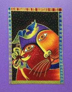 Laurel Burch Cat Applique*Handmade*RARE fabric/II