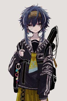 Original Artwork by Anime Chibi, Manga Anime, Fanarts Anime, Manga Art, Anime Characters, Cute Anime Boy, Kawaii Anime Girl, Anime Art Girl, Dark Anime