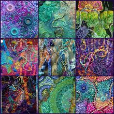 Karen Cattoire is an incredible Fiber Artist and Mixed Media Art. I just loved a… Karen Cattoire is an incredible Fiber Artist and Mixed Media Art. I just loved all of her various pieces pictured on her photostream. Crazy Quilting, Art Quilting, Fabric Art, Fabric Crafts, Quilt Modernen, Textile Fiber Art, Fabric Manipulation, Felt Art, Medium Art