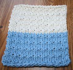 Andalusian Washcloth Loom knitting