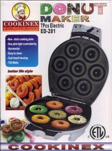 COOKINEX 7 Piece Durable Electric Donut Maker #2014 #donut #donutmaker #top10 #sweettop10