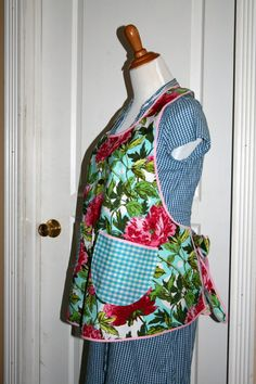 Womens Misses Apron Pinny Kitchen Work by littlebirdlanellc, $30.50