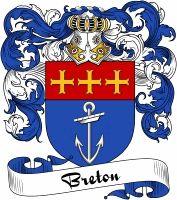 Breton Coat of Arms  Breton Family Crest   VIEW OUR FRENCH COAT OF ARMS / FRENCH FAMILY CREST PRODUCTS HERE