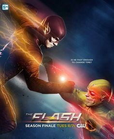 The Flash season 1 // season finale poster // Is he fast enough to change time? // The Flash vs Reverse Flash