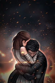Star Wars Fan Art, Rey Star Wars, Whats Wallpaper, Star Wars Wallpaper, Amour Star Wars, Star Wars Zeichnungen, Wallpaper Winter, Reylo Fanart, Arte Do Kawaii