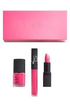 Free shipping and returns on NARS 'Schiap' Lip & Nail Set ($66 Value) at Nordstrom.com. The shocking pink hue of Schiap is the focal point of a limited-edition set by NARS filled with products for your lips and nails.<br><br>Set includes:<br>- Schiap Lipstick (0.12 oz.)<br>- Schiap Nail Polish (0.5 oz.)<br>- Limited-edition Schiap Lip Gloss (0.18 oz.)<br>- Keepsake box