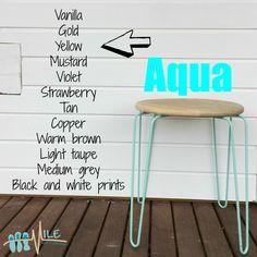 Aqua goes with...
