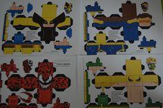 marvel  cyclops wolverine carnage iron fist card craft