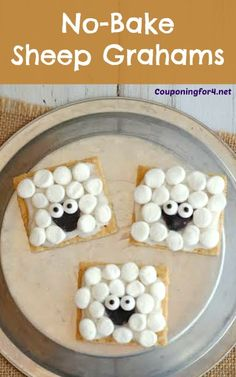 These adorable No-Bake Sheep Grahams are perfect for little lunch boxes, kid parties, school snacks or fans of Shaun the Sheep! Children will love these as quick treats or desserts and want to share t ...
