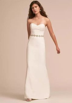 Tendance Robe du mariage 2017/2018  BHLDN Paige Gown Sheath Wedding Dress