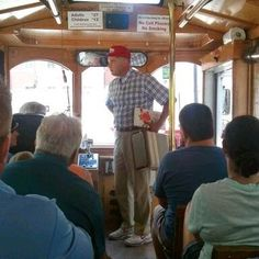 Forrest Gump joined us on our Savannah trolley tour