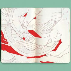 Abstract looking sketchbook by @brycewymer #sketchbook #sketch #drawing #design #art