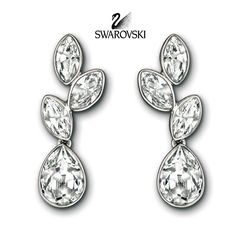 Swarovski Pierced Earrings TRANQUILITY Rhodium #1179730 – Zhannel