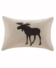 Moose silhouette pillow #moose #pillow #cabin #cabindecor