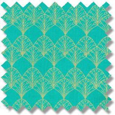 Fabric design based on Carlton Ware Egyptian Fan pattern 1