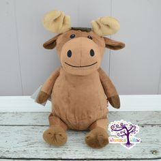 Moose Stuffed Animal Cubbie by WhimsicalWillowLLC on Etsy