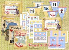 wizard of oz party printables