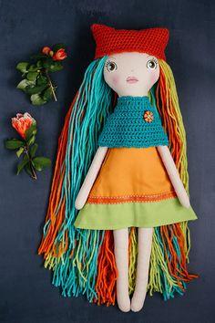 Steady Ooak Handmade Cloth Art Doll New Gift For Her Dolls & Bears