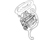 wizard tornado coloring pages