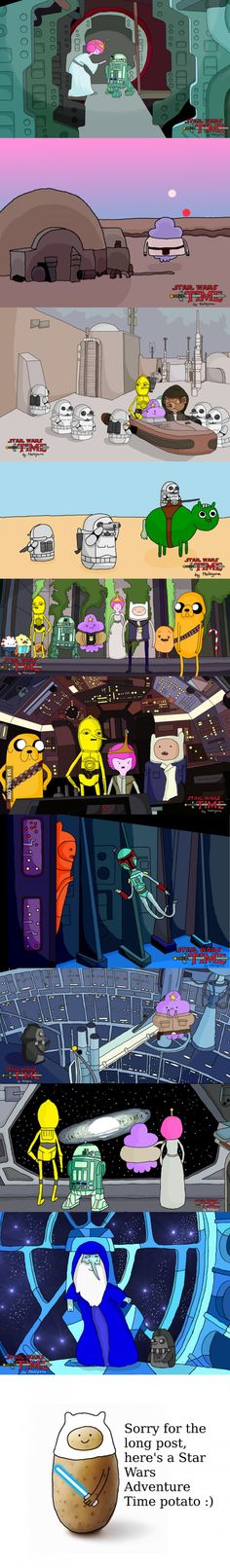 I made some Star Wars and Adventure Time crossovers, hope you guys enjoy!