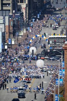 A large crowd gathered as the celebrations continued Tuesday for the Kansas City Royals players, family and fans with a parade for the Royals team who beat the New York Mets in five games to win the World Series 2015 in New York. The parade was on Grand Boulevard and ended at Union Station for a large rally.