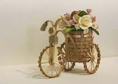 Декоративный велосипед с букетом. Мастер-класс