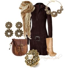 """""""Warm Suede for a Fall Stroll"""" by momfor2girls on Polyvore"""