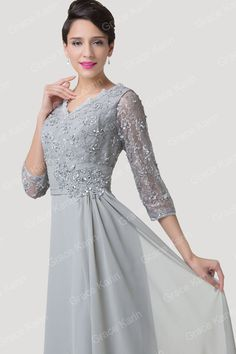 New Mother Of The Bride Lace Evening Formal Ball Gowns Bridesmaid Cocktail Dress #GraceKarin #BallGown #Formal