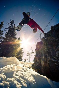 Snow and sun!  #snowboarding #snow