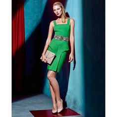 #mulpix Stay chic and classy at the weekend | Gizia ss|2016 colelction |  #gizia  #ss16  #style  #green  #dress  #saturday