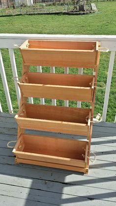 Ends Thursday New 24 vertical gardening smooth red by RopedOnCedar