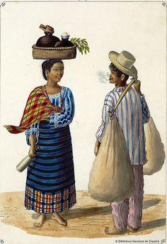 Lechera y panadero, 1847 Arte Filipino, Filipino Culture, Filipino Tribal, Philippines Outfit, Philippines Culture, Cultura Filipina, Filipino Fashion, Philippine Art, Filipiniana