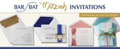 Bar and Bat mitzvah invitations