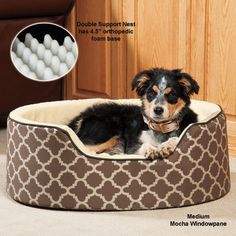 Cute Dog Bed - Double Support Slumber Nest
