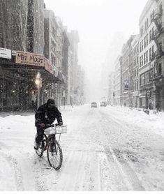 A little bit of snow by @scottlipps - New York City Feelings