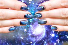 Galaxy nails Latest Nail Designs, Galaxy Nails, Nail Art, Unique, Saga, Beauty, Animal, Nail Arts, Animals