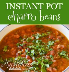 We lived in the panhandle of Texas for a few years and loved to eat at a Mexican restaurant called Abuelos in Amarillo. They have DELICIOUS charro beans! Since we no longer live there we decided to search for a similar recipe to make at home. We customized this recipe to be made in our beloved Instant Pot (electric pressure cooker) but you could definitely