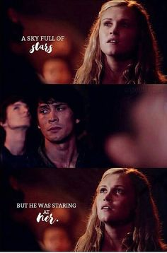 Bellarke shippers will love this! I mean a sky full of them and he looks at her, BELLARKE! FOR! THE! WIN!