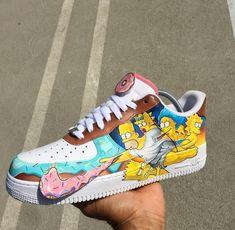 So cute shoes. Custom Painted Shoes, Custom Shoes, Nike Custom, Custom Af1, Sneakers Fashion, Shoes Sneakers, Sneakers Adidas, Footwear Shoes, Nike Shoes Air Force