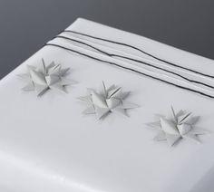 Pastel Gray half star with tape S - 12 pcs