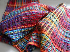 Colors - handwoven towels great for a cotton blanket!
